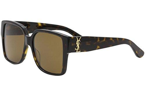 (Saint Laurent SL M9 003 55mm Avana / Brown Sunglasses)