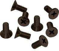 CRL Oil Rubbed Bronze Phillips 6 mm x 12 mm Cover Plate Flat Head Screws - Package