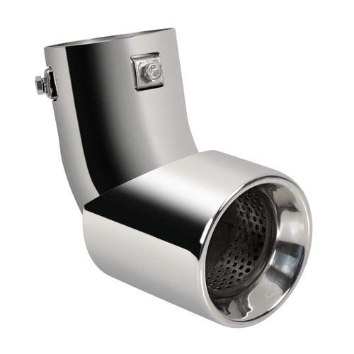 Falke AB116 Embout d/échappement rond en acier inoxydable /à visser /Ø 40-62 mm Aspect sport universel Exhaust