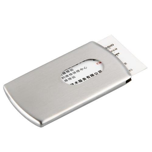 Easy Provider® PORTA BIGLIETTI DA VISITA ACCIAIO INOX TASCABILE 10x6cm