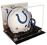 Deluxe Acrylic Football Helmet Display Case with Mirror Back