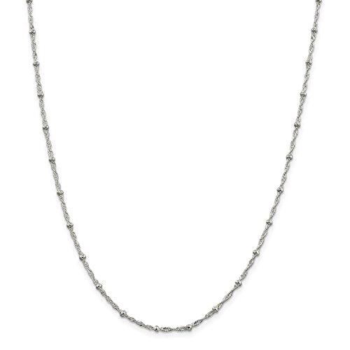Rope Bracelet Fancy (925 Sterling Silver 2.5mm Machine Made Fancy Rope Chain Bracelet 10
