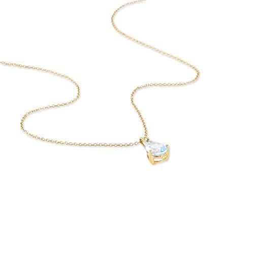 HISTOIRE D'OR - Collier Or et Topaze - Femme - Or jaune 375/1000