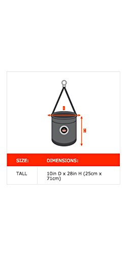 Arsenal 5742T Tall Leather Bottom Tool Bucket with Cover