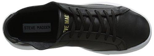 Sneaker In Pelle Nera Da Uomo Steve Madden