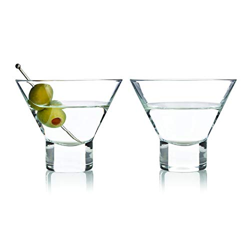 Viski 3718 Raye Stemless (2 pack), Martini Glasses (Stemless Glasses Cosmo)