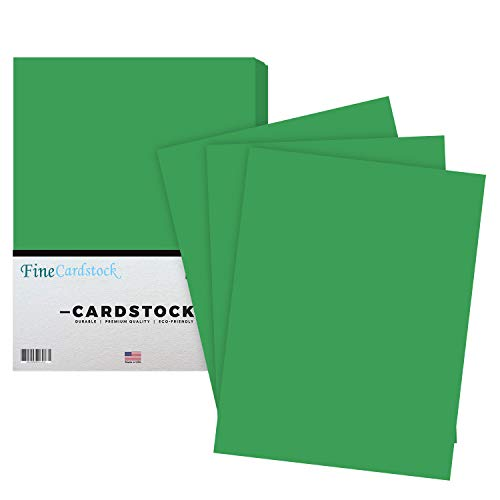Premium Color Card Stock Paper   50 Per Pack   Superior Thick 65-lb Cardstock, Perfect for School Supplies, Holiday Crafting, Arts and Crafts   Acid & Lignin Free   Gamma Green   8.5 x 11