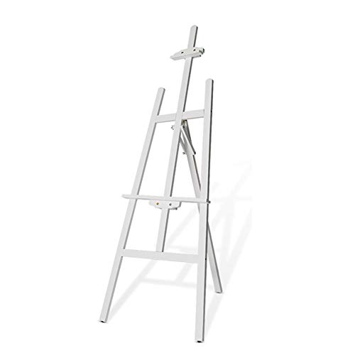 Easels YY Heavy Duty A-Frame Art, Wood Artist for Painting, Adjustable Standing Studio Floor White ()
