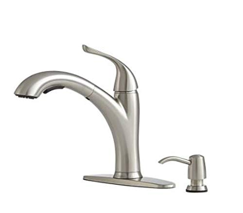 Giagni Abete Stainless Steel 1-Handle Deck Mount Pull-Out Kitchen Faucet LK200-SS