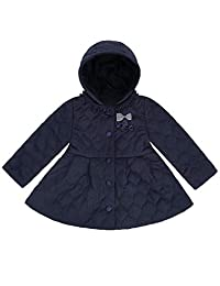 DISHANG Toddler Girls Winter Coats Quilted Barn Jacket with Removable Hood Windproof Warm Bubble Coat for Kids Lightweight Fashion Casual Outwear Children Clothes