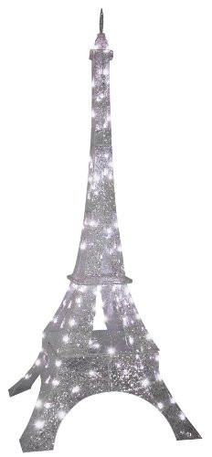 gemmy sparkle crystal splendor eiffel tower prop christmas decor show lights ss88006g by gemmy