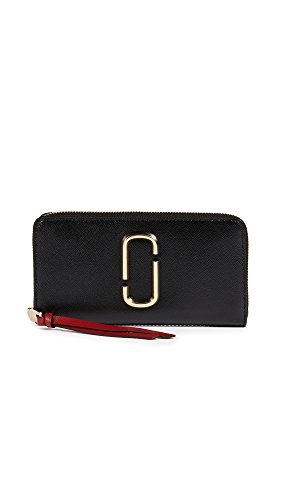 Marc Jacobs Women's Snapshot Standard Continental Wallet, Black/Chianti, One Size by Marc Jacobs