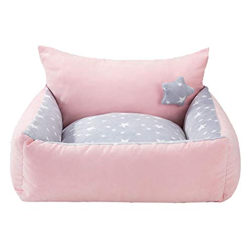 D Large D Large Jypet Pet bed for dogs cats removable and washable Pet supplies Keep warm in winter Kennel Square with Plus velvet small medium Teddy bed,D,L