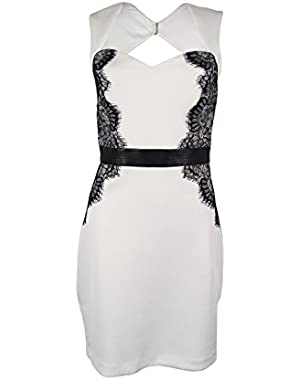 Guess Women's Lace Trim Bodycon Dress