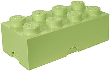 Room Copenhagen 4004 Ladrillo de Almacenamiento de 8 espigas de Lego, Caja de almacenaje apilable, 12 l, Legion/SPR. Yellowish Green, 50 x 25 x 18 cm: Amazon.es: Hogar