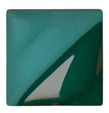 AMACO Velvet Lead-Free Non-Toxic Semi-Translucent Underglaze, 1 pt Jar, Blue Green V-341