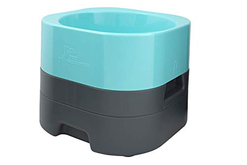 PET WEIGHTER PetWeighter Large Heavy Dog Bowl Non Spill Won't Move! Blue (Dog Bowls Elevated For Large Dogs)