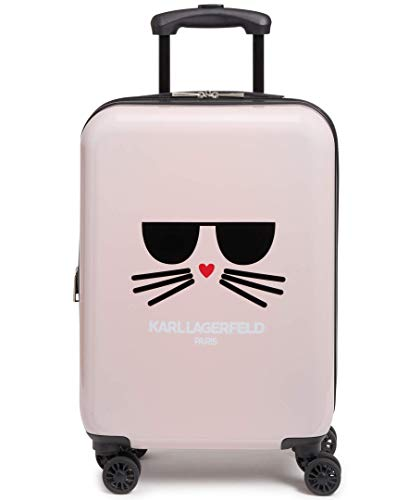 Karl Lagerfeld Paris Blush Kat Expandable Hardside Spinner Luggage, 20 Inch
