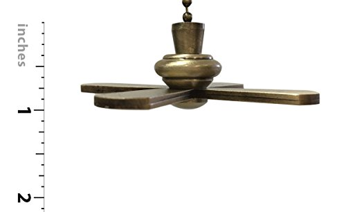 Royal Designs FP-1001-2-A-B Metal Fan and Light Bulb Pull Chain, Antique Brass and White by Royal Designs, Inc (Image #3)
