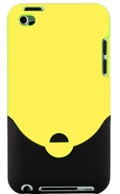 Yellow Rubberized Slider Case for Apple iPod Touch 4, 4G (4th Generation) - Includes 24/7 Cases Microfiber Cleaning Cloth [Retail Packaging by (Ipod 8gb 4th Gen)