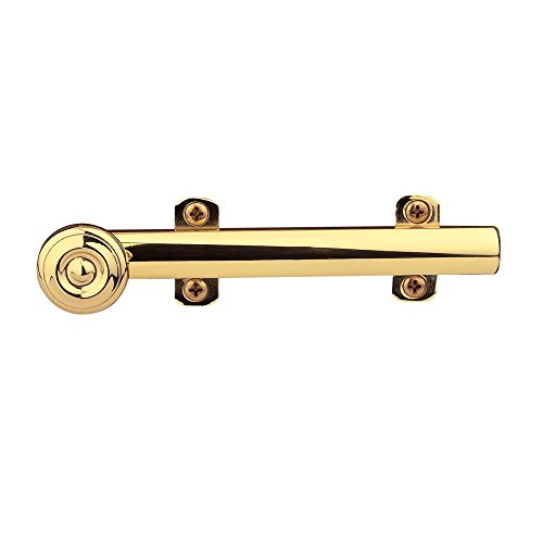Baldwin 0346.030 Decorative Heavy Duty 6-Inch Surface Bolt, Polished Brass - Lacquered