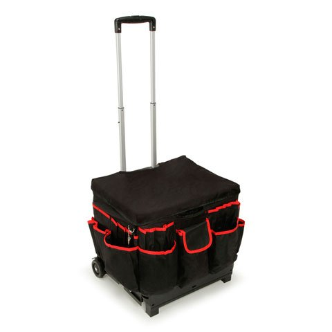 Darice 1210-27 Rolling Craft Cart with Nylon Liner and Telescoping Aluminum Handle