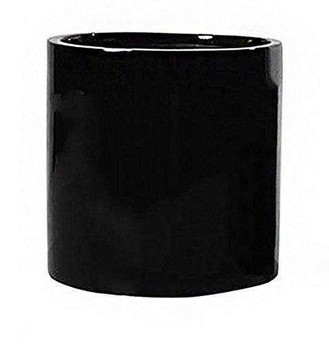 black flower pot 8 - 5