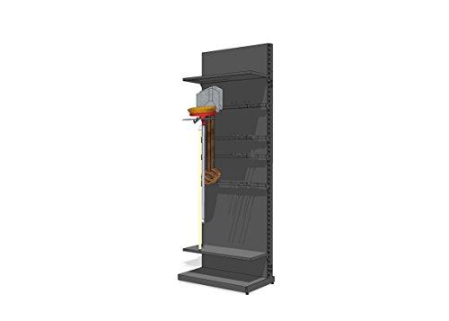 Yard Tool Organizer for Garage – Heavy Duty Tool Storage Organizer & Utility Shelf for Yard Tools & Gardening Tools – Adjustable, Easy Assembly Wall Tool Rack, Shovel Holder, Broom Hanger, Tool Holde