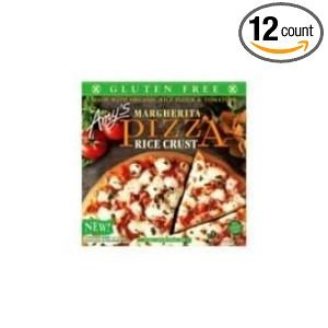 Amys Organic Single Serve Rice Crust Margherita Pizza, 6.4 Ounce -- 12 per case. by Amy's