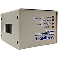 Tecnoline® RDR-2000i Beige Regulador de Voltaje, Exclusivo Refrigeración, Lavadoras. 2000W, 600J, con Límites y Retardo…