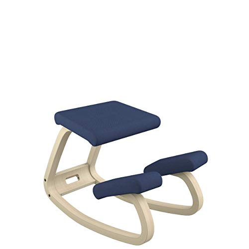 Varier Variable Balans Original Kneeling Chair Designed by Peter Opsvik (Dark Blue Revive Fabric...
