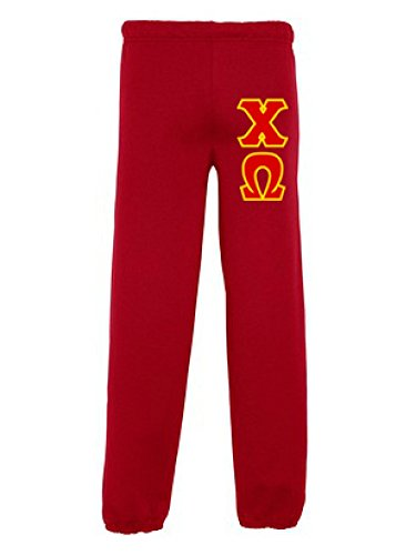- Chi Omega Chi O Lettered Sweatpants Small Red