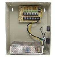 24V DC Power Distribution Box with Circulation Window, 9 Ports, 10 Amps, PTC Fuses, UL / cUL-Distributed by NAC Wire and Cables