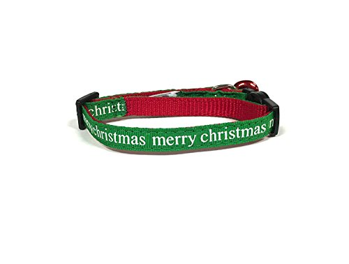 pet supplies midlee merry christmas cat collar set with safety buckle by amazoncom