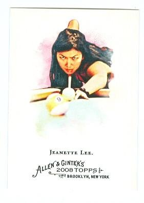 Jeanette Lee trading card 2008 Topps Allen and Ginters #282 Billiards Black Widow (Signed 2008 Topps Card)
