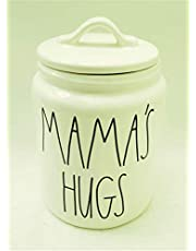 Rae Dunn MAMA'S HUGS Ceramic LL medium Size 8 x5 Inch Canister 2020 Limited Edition