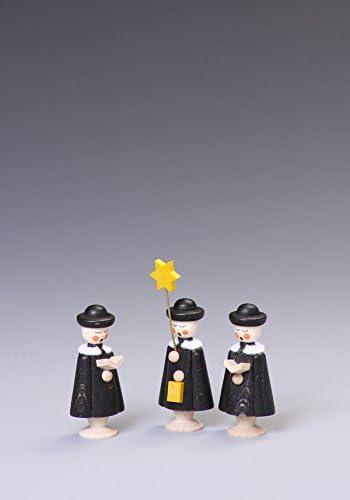Tischdeko Kurrendefiguren 3 Figuren Schwarz Höhe ca 5 cm NEU Kurrende Kirche