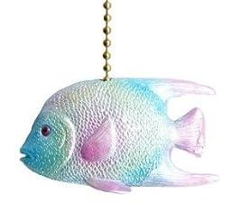 Tropical Ocean Reef Angel Fish Ceiling Fan Pull