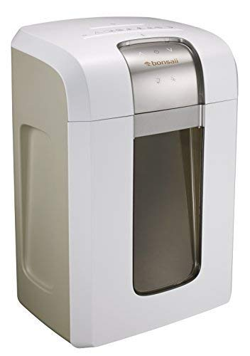 (Bonsaii Paper Shredder, 240 Minutes Continuous Shredding, 10-Sheet Micro Cut (25/64 inches) with 7.9 Gallons Wasterbasket, White (4S30))