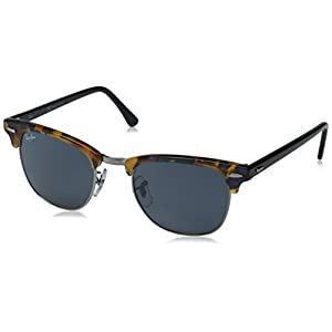 Ray-Ban CLUBMASTER - SPOTTED BLUE HAVANA Frame GREY Lenses 49mm Non-Polarized