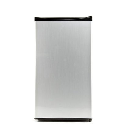 Equator REF 121L-33 SS Compact Stainless Defrost Refrigerator, 3.3 cu.ft net capacity, Low noise, Energy saving, Reversible door, Special can-holder, Water holding tray, Sealed back design by Equator