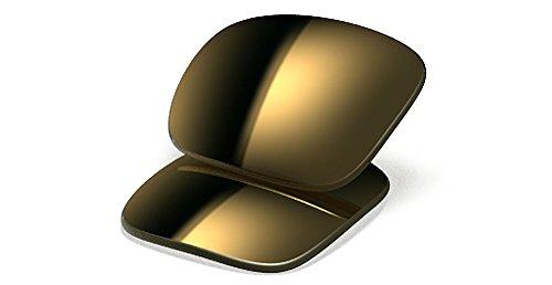 Oakley Gascan 16-466 Polarized Rimless Sunglasses,Multi Frame/Gold Lens,One - Oakley Polarized Glasses Safety