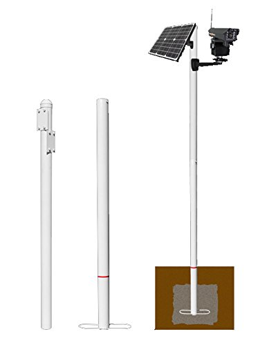 Eye Trax Modular Pole System - Permanent Mounting Pole Solution for The Ranger Series Solar Powered Wireless Security Camera Systems (Software Design Concrete Patio)