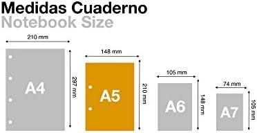 Miquelrius 2872–Ersatzteil 4Folienkarton ecojohas M (DIN A5, 148x 210mm, 120Blätter, 80g/m², kariert)