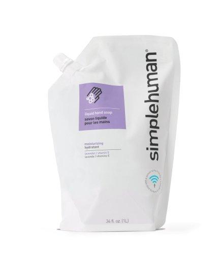 Liquid Refill Package (simplehuman 34 fl. oz. Moisturizing Liquid Hand Soap Refill Pouch, Lavender / Vitamin E)