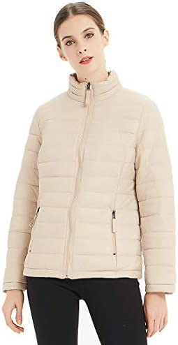 Plusfeel Women's Active Softshell Lightweight Short Quilted Jacket Puffer Coat, S-3XL