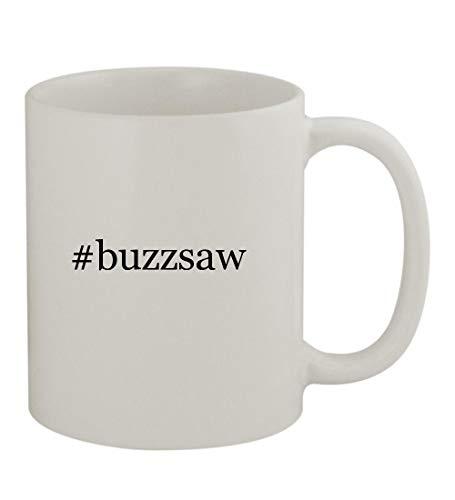 (#buzzsaw - 11oz Sturdy Hashtag Ceramic Coffee Cup Mug, White)