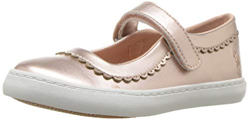 (Polo Ralph Lauren Kids Girls' Pella II Mary Jane Flat, Pink/Metallic, M090 M US Toddler )