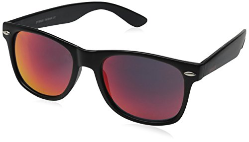 zeroUV ZV-8025-01 Wayfarer Sunglasses, Black, 58 mm