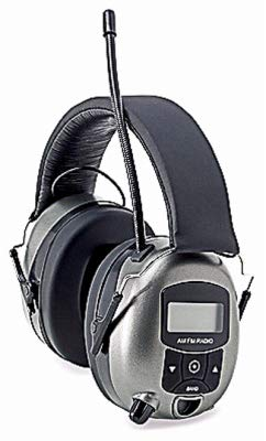 Safety Works 10121816 MP3/AM/FM Digital Radio & Hearing Protector Safety Earphones - Quantity 4